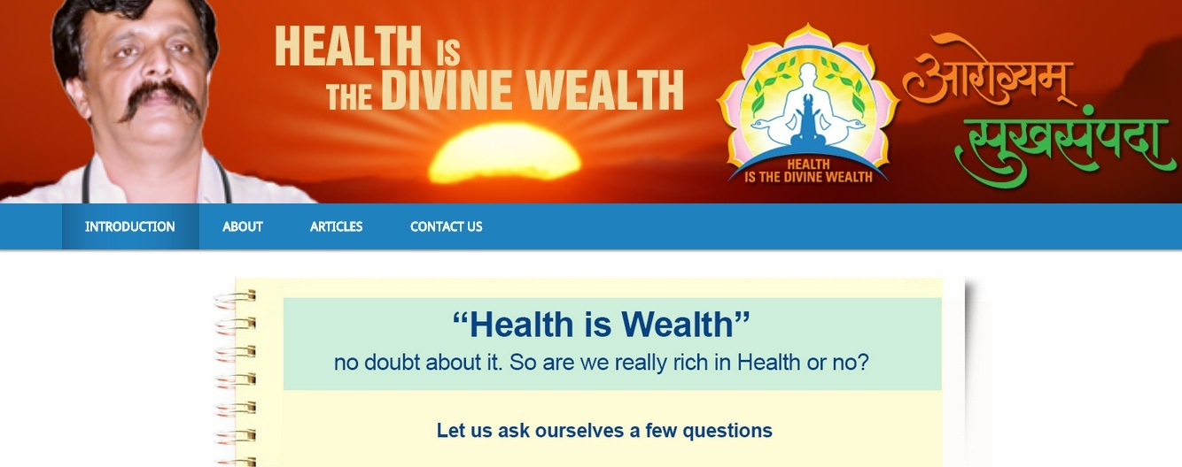 Launch of Website on Self Health