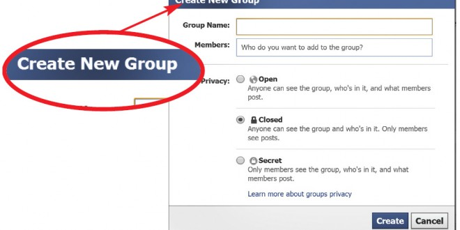 how to create new group in messneger