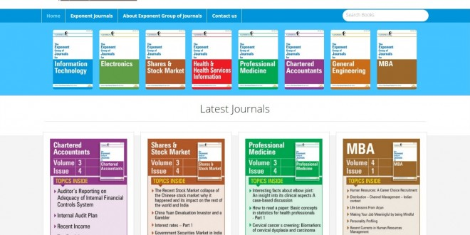 Exponent Group of Journals now available free of cost