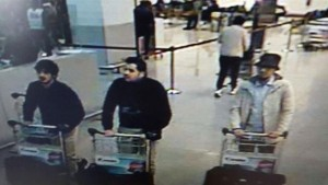 Three men who are suspected of taking part in the attacks at Belgium's Brussels Airport.